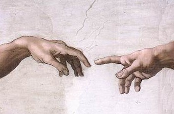 Michelangelo hand of God