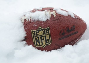 steeler football in snow