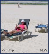 Zanzibar Cindy at the beach