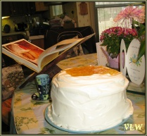 Easter cake on table