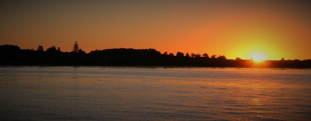 SA sunset over Robben Island (2)