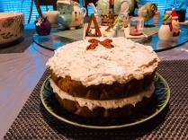 christmas vegan italian wedding cake
